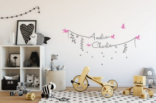 Two Name Wall Sticker 8a Decal