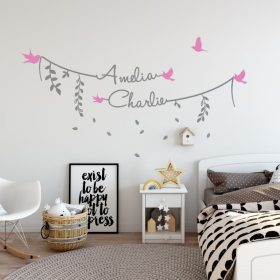 Two Name Wall Sticker 8b Decal
