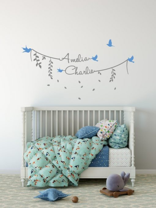 Two Name Wall Sticker 8c Decal