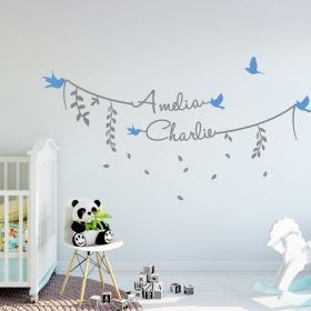Two Name Wall Sticker 8d Decal