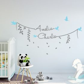 Two Name Wall Sticker 8e Decal