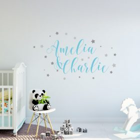 Two Name Wall Sticker 9a Decal