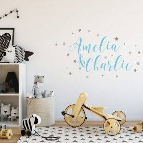 Two Name Wall Sticker 9b Decal