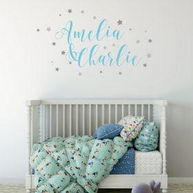 Two Name Wall Sticker 9c Decal