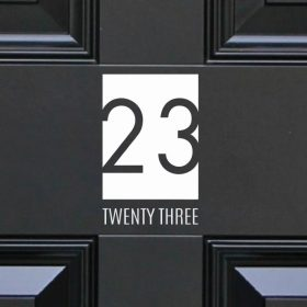 house-sign-numbers 25DR