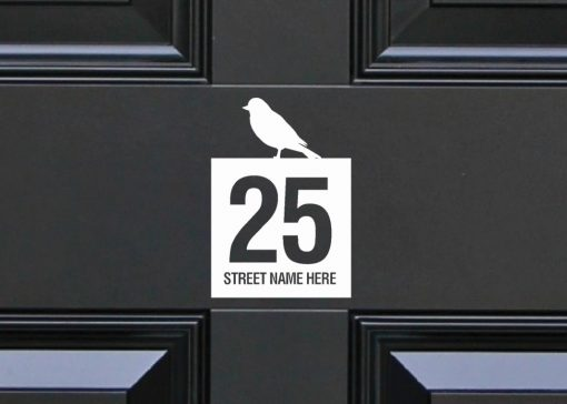birds house-sign-slate 110DR