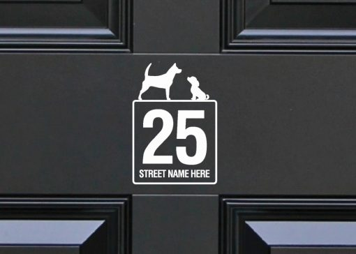 dogs house-sign-slate 117DR