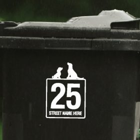 dogs wheelie-bin-sticker-116WB