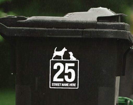 dogs wheelie-bin-sticker-117WB