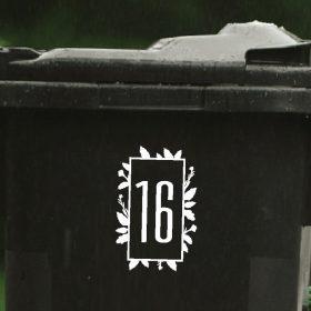 floral wheelie-bin-sticker-numbers-71WB