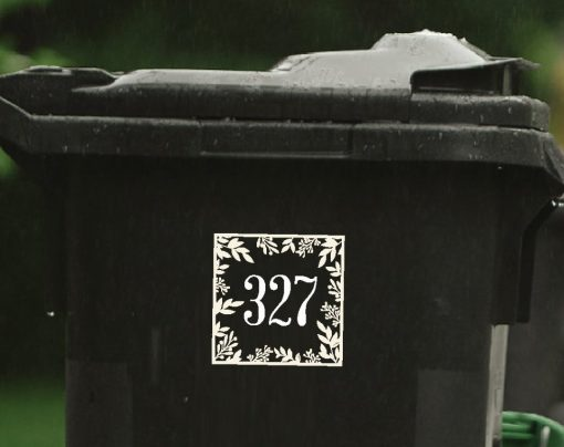 floral wheelie-bin-sticker-numbers-76WB