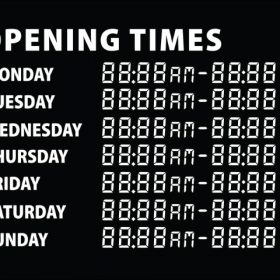 Printable Opening Times Sign v1