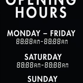 Printable Opening Times Sign v10