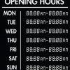 Printable Opening Times Sign v11