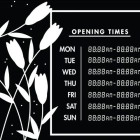 Printable Opening Times Sign v15