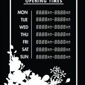 Printable Opening Times Sign v17