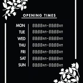 Printable Opening Times Sign v20