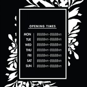 Printable Opening Times Sign v21