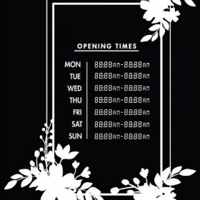 Printable Opening Times Sign v22