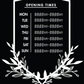 Printable Opening Times Sign v24