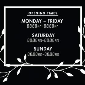 Printable Opening Times Sign v26