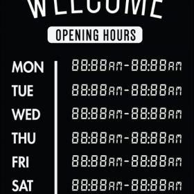 Printable Opening Times Sign v28