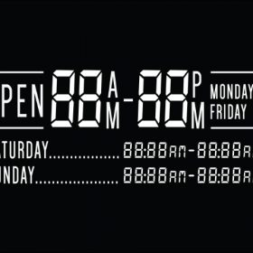 Printable Opening Times Sign v3