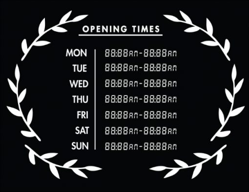 Printable Opening Times Sign v30