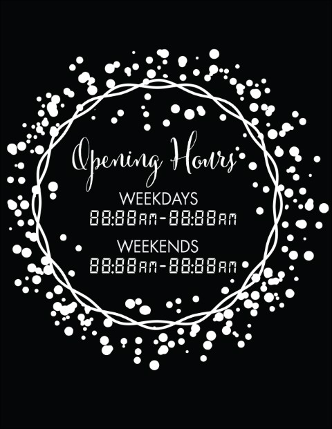 Printable Opening Times Sign v5