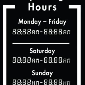 Printable Opening Times Sign v7