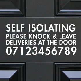 Self Isolating Door Sticker-01