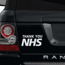 Thank you NHS Car Sticker 1b