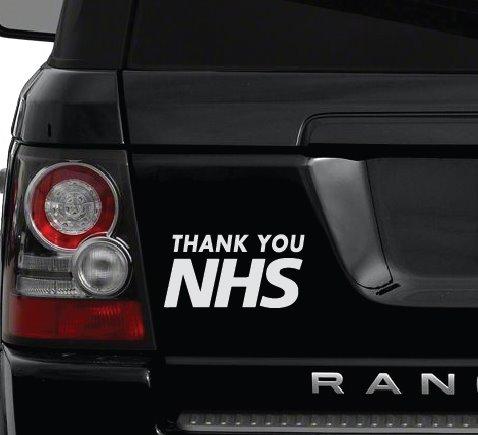 Thank you NHS Car Sticker 1b