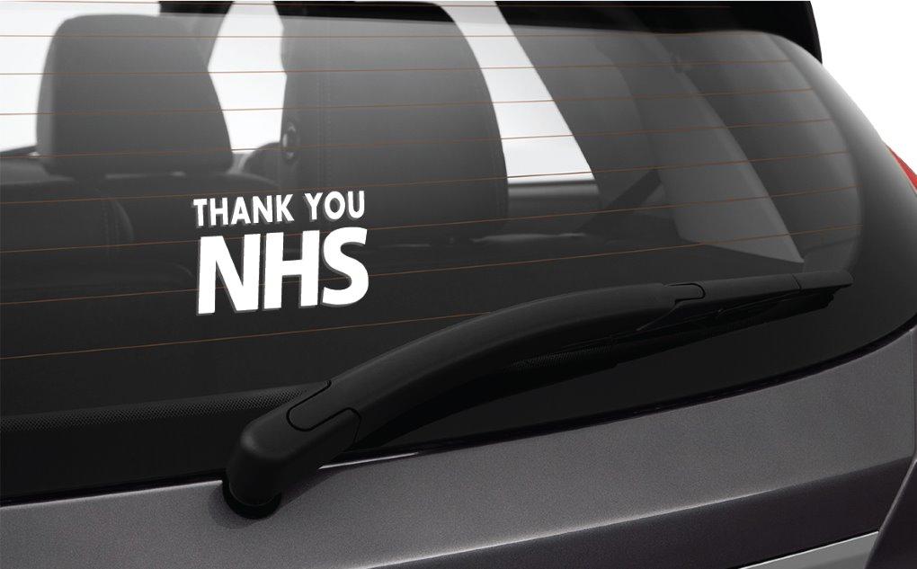 Car Sticker Design 2 Thank you Nurse//Doctor//NHS Worker