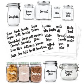 food pantry jar labels
